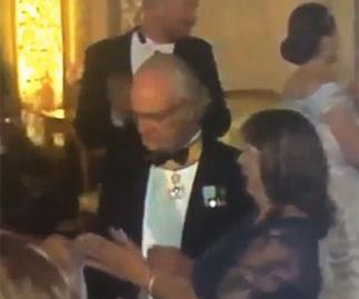 King caught dad dancing at royal wedding
