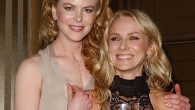 Nicole Kidman and Naomi Watts lock lips on stage