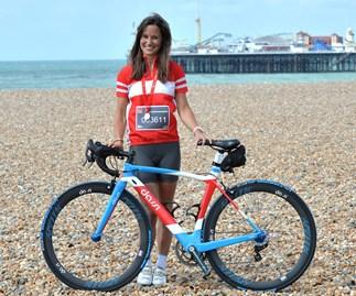 Pippa Middleton still beautiful after 83km on bike