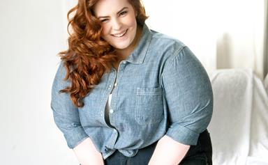 Model shows how different clothing sizes can be