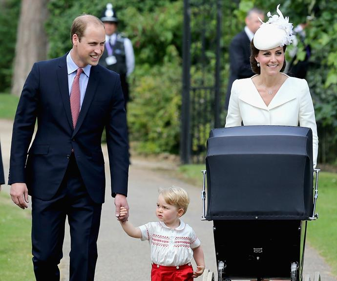 The Duke and Duchess waved to well-wishers who had gathered by the church,