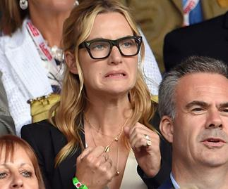 Celebrities pulling funny faces at Wimbledon