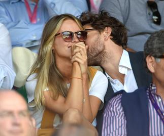 Cressida Bonas with Edward Holcraft at Wimbledon