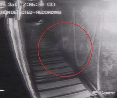 Spooky CCTV footage shows 'ghostly figure' walking down hallway of a pub