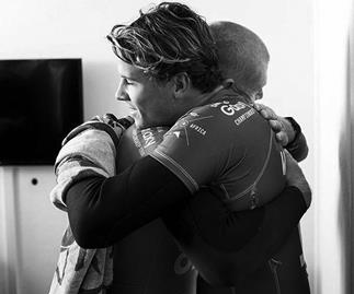 Mick Fanning thanks Julian Wilson and hints he'll surf again