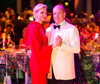 Princess Charlene ravishing in red jumpsuit