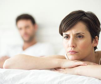 A couple in a sexless marriage
