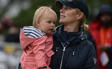 She got it from her mama! Mia Tindall starts riding lessons