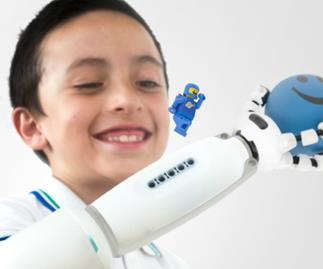 A prosthetic arm kids get to customise with Lego