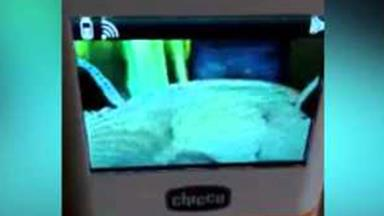 'Ghost' filmed floating over baby's cot
