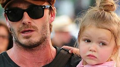 David Beckham defends letting Harper use a dummy