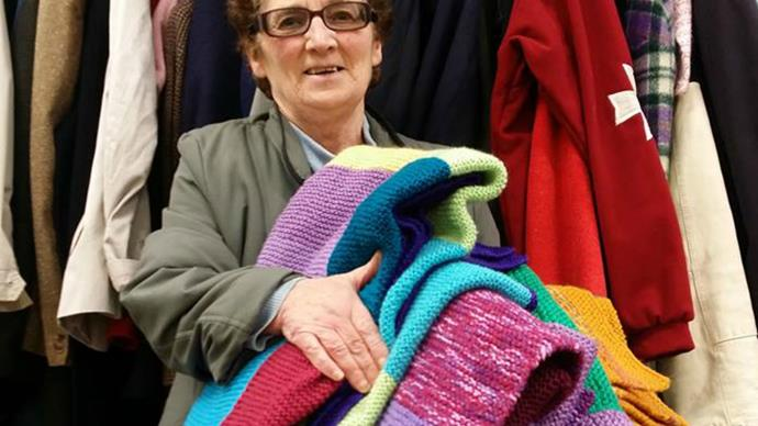 Meet Kerry, the woman who knits to keep asylum seekers warm