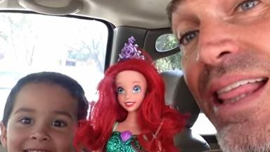 WATCH: Dad films support of son's toy choice