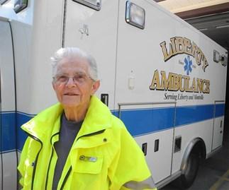 Granny still volunteering as ambulance driver at 87
