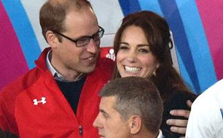 William and Kate get cosy at the rugby