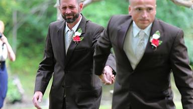 Father's heartwarming gesture to bride's step-father goes viral