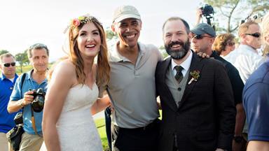 President Obama crashes wedding
