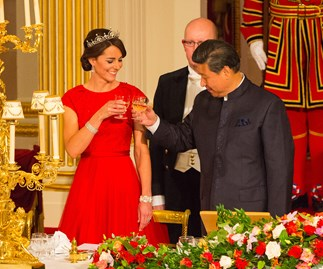 Duchess Kate arrives at first state banquet