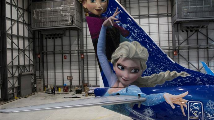 WestJet unveils Frozen inspired plane