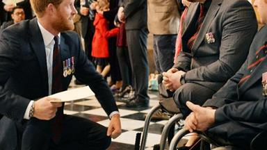 Prince Harry attends service marking 75 years of British Army's bomb disposal unit