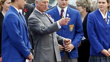 NZ Royal Tour: Kiwi kids greet Prince Charles with a haka