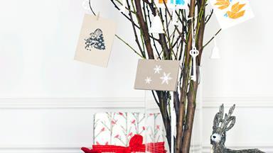 Christmas craft: Christmas card tree