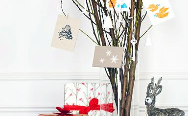 Christmas craft: Christmas card tree