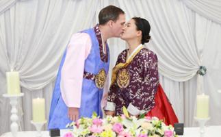 US army sergeant weds in korea