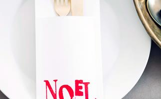 Simple and stylish Christmas cutlery holders