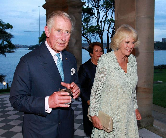 Prince Charles and Duchess of Cornwall arrive for the gala dinner.