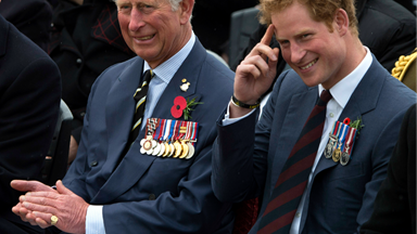 """Royal tour: Prince Charles says Harry is a """"jolly good egg"""""""