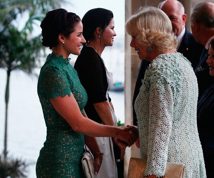 Jockey Michelle Payne meets the Duchess.