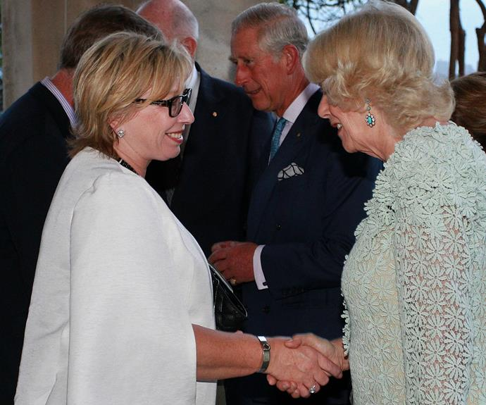 Australian of the Year, Rosie Batty meets Camilla.