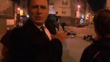 Karl Stefanovic caught in panic on the streets of Paris before live cross