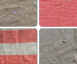 mysterious holes in t shirts