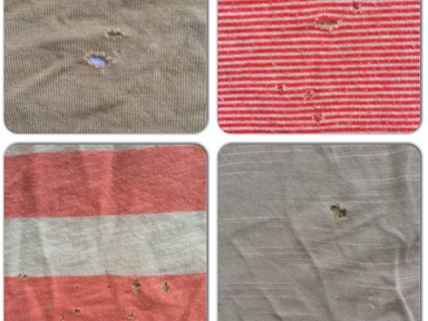 Tiny holes in t-shirts; The mystery revealed