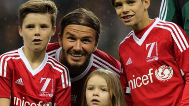 When Harper Beckham met Prince Harry