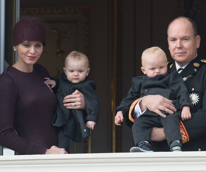 Monaco's royal twins complete perfect family picture