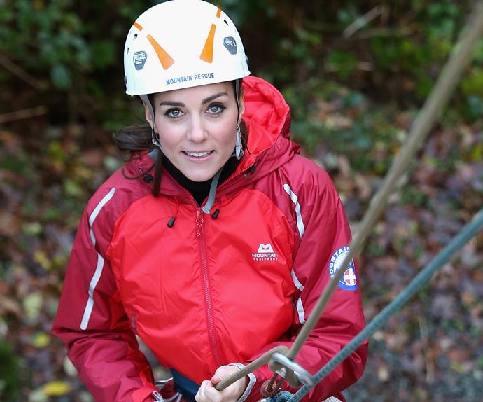 Kate Middleton abseiling