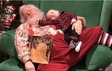 Sleeping baby Santa photo goes viral