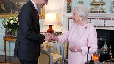 Queen Elizabeth shares a flirty exchange with Canada's handsome prime minister