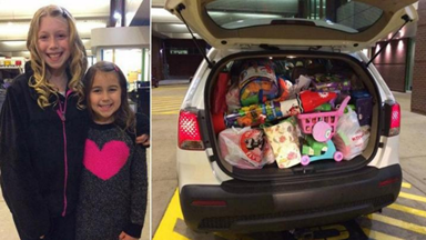 Young girl donates birthday gifts to charity