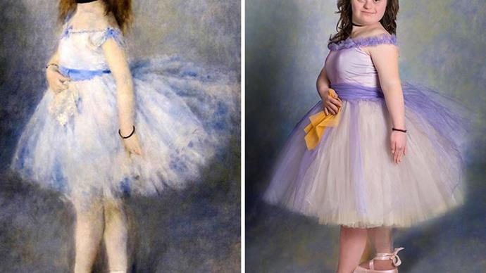 Children with Down syndrome recreate famous paintings