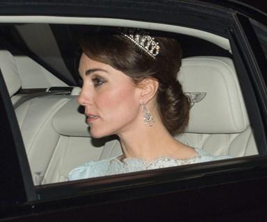 Kate sparkles in Diana's favourite tiara