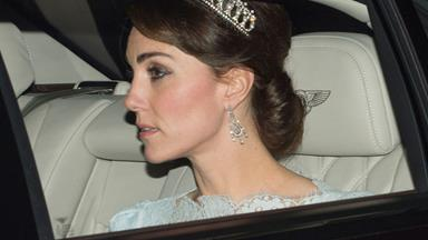 Kate sparkles in Diana's favourite tiara