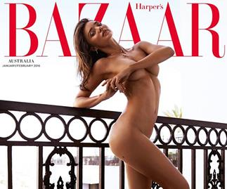 Miranda Kerr bares all on Bazaar cover