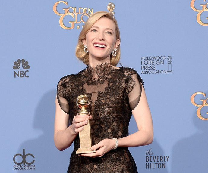 For playing the eponymous role in *Carol* in 2013, Cate Blanchett won both the Drama Golden Globe and The Best Actress Oscar.