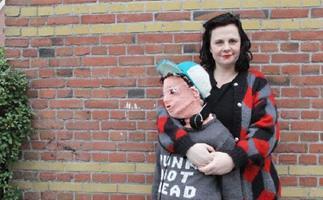 Mum knits herself a new son