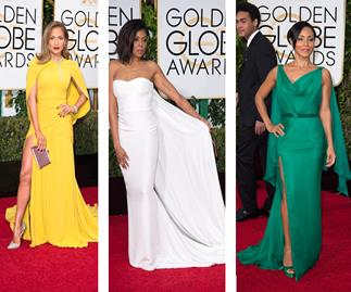 10 hot red carpet trends from the Golden Globes that you'll see at the Logies