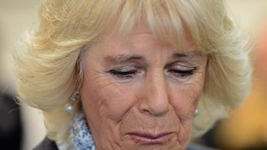 Camilla sheds a tear for victims of domestic violence